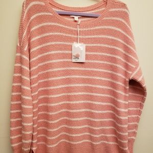 NWT Lauren Conrad Pink Stripe Sweater XXL